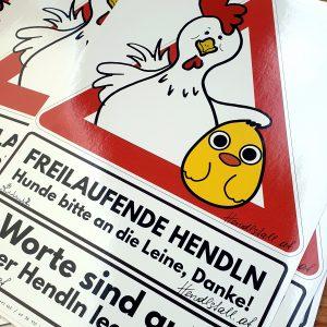 Sticker Freilaufende Hendl